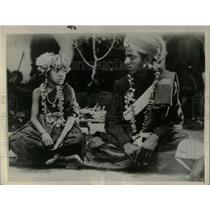 1934 Press Photo Child Marriage Ceremony India - RRX77027