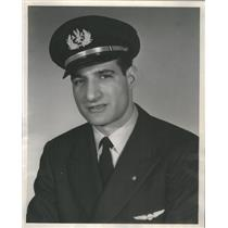 1957 Press Photo Michael Edward Petite Promoted To Flight Engineer - RSC98139
