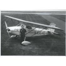 1976 Press Photo Lou Seno Benefit Flight For University Chicago Cancer Research