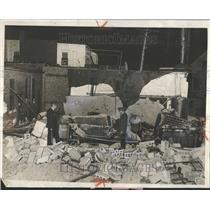 1929 Press Photo Mack Avenue bomb Dyers Cleaner - RRV93499