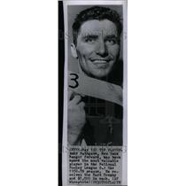 1959 Press Photo Andy Bathgate New York Rangers Nationa - RRU23079