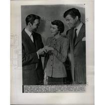 1949 Press Photo Betsy Drake Zachary Scott Morgan - RRW18311