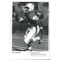 1974 Press Photo Mack Herron Running Back New England Patriots - RSC26357