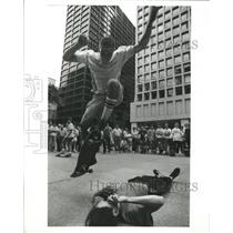 1988 Press Photo Chicago Skateboard Daley Park Protest - RRW39793