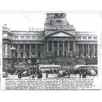 1917 Press Photo Beunos Aires Crowds Juan Peron ban - RRX82463