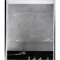 1952 Press Photo Airplanes/Aircraft Carrier Coral Sea - RRX71709
