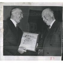 1954 Press Photo Eddie Rickenbacker Eisenhower Airline- RSA33371