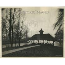 1923 Press Photo Soldiers Home Danville City Boat House - RRR90295