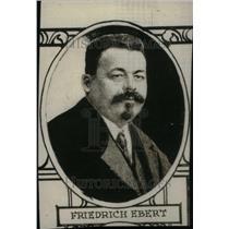 1918 Press Photo Friedrich Ebert President of Germany - RRU25369