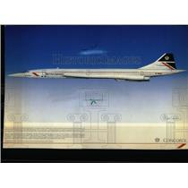 1987 Press Photo A Supersonic Concorde Airplane - RRW56919