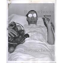 1958 Press Photo Jerry Toppazzini (Boston Bruins) - RSH36253
