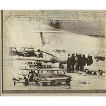 1972 Press Photo Olympic massacre Arab Hijackers Jet - RRV40469