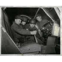 1956 Press Photo GI Juniors Examine Helicopter Controls - RRX11037