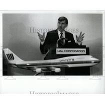 1990 Press Photo Annual Shareholder UAL Corporation Pix - RRW62171
