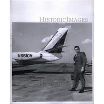 1975 Press Photo J.M Robinson Commander Jet - RRX59723