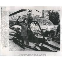 Press Photo Pilot Airborne Campbell Brig General Willard Pearson Viet Nam