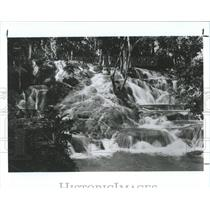 1988 Press Photo Jamaican waterfall - RRX83783