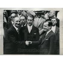 1931 Press Photo Trans-Alantic fliers recieve welcome - RRU23363