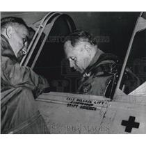 1956 Press Photo Gen. Lt. Kammbuber visited Furstenfeldbruck airport