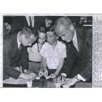 1962 Press Photo Astronauts Scott Carpenter John Glenn - RRV23331