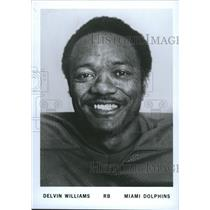 Press Photo Delvin Williams Running Back Miami Dolphins Football Team