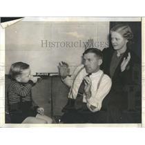 1936 Press Photo Dick Bartell Jr Mrs Bartell  - RSH25045