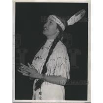 Press Photo Princess Wah Neese Red Rock American Indian Miami Stadium