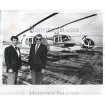 1983 Press Photo Randy York and Henry Van Kesteren, of Florida Helicopters, Inc.