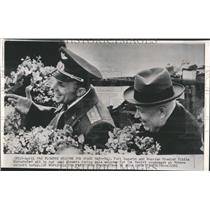 1961 Press Photo Maj Yrui Gagarin Khurshchev Premier - RRV53093