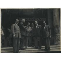 1946 Press Photo Aviation Dr. Mooney Arturo Herbruger Dr. Julio Bianchi Mario