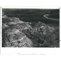1978 Press Photo these ruffed and colorful buttes of N.D badlands - RSH19127