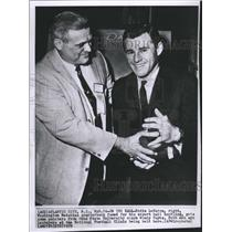 1959 Press Photo Eddie LeBaraon, Woody Hayes - RSH34053