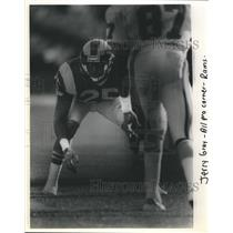 Press Photo NFL Football Los Angeles Rams All Pro Cornerback Jerry Gray