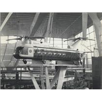 1961 Press Photo A model of a Gian Helicopter
