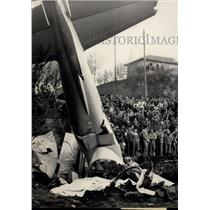 1953 Press Photo A Fiat C49 fighter plane recently crashed