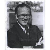 1977 Press Photo Kansas City Chiefs Football Team Owner Lamar Hunt Sports B&W