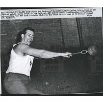 1961 Press Photo Bob Backus, Weight Thrower - RSH32781