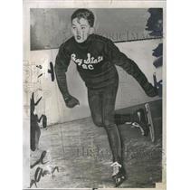 1946 Press Photo Frank Broadhurst, skater - RSH34449