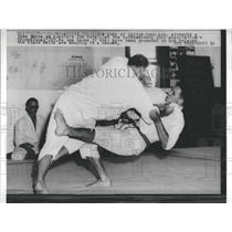 1960 Press Photo Edes vs Rode Southwestern Judo Association Promotional