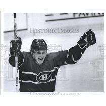 1989 Press Photo Claude Lemieux of Canadiens - RSH35187