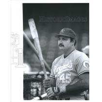 1987 Press Photo Steve Balboni Kansas City Royals First Baseman Home Run Power