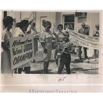1966 Press Photo Judo champion 9 yr old Mark McGarry III in Florida - RSH98017