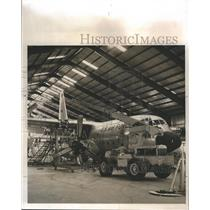 1964 Press Photo U.S Air force plane at the Fairchild-Hiller plant for cleaning
