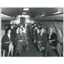 "Press Photo ""Mock up"" of the BAC One Eleven plane"