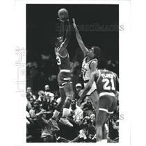 1989 Press Photo Otis Thorpe of the Houston Rockets - RSH33841