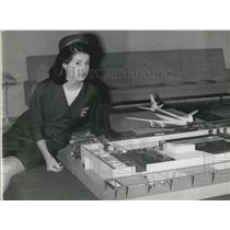 1967 Press Photo TWA Presents New Freight Terminal Model Boeing 747