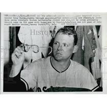 1961 Press Photo Pitcher Ryne Duren, Los Angeles Angels Baseball - RSL53791