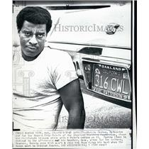 1971 Press Photo Marvin Upshaw Defensive end Kansas City Chiefs - RSL55745