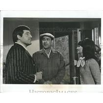 1969 Press Photo Jules Munshin Marlo Thomas Pepper Martin That Girl - RSH96709