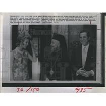 1970 Press Photo Self Exiled King Constantine of Greece and Queen Anne Marie